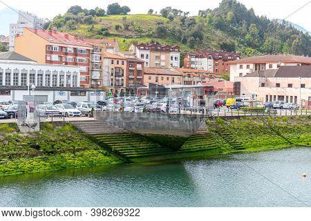 Ribadesella, Asturias, Spain : 2019 May 07:  Ribadesella Village Aerial View In Asturias Of Spain In