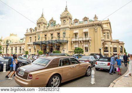 Monaco, Monte-carlo, 09 July 2019: The Place Casino, Casino Monte-carlo, Casino Royal, A Tourists, E
