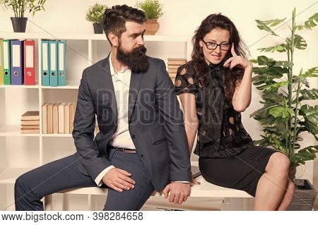 Office Couple. Office Flirt. Career Company. Flirting And Seduction. Sexy Secretary And Manager. Off