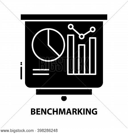 Benchmarking Icon, Black Vector Sign With Editable Strokes, Concept Illustration