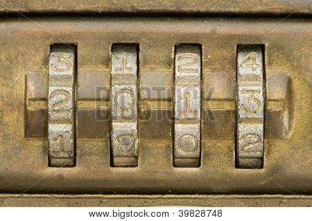 Combination Lock Set To 2013