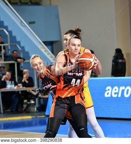Orenburg, Russia - November 24, 2019: Girls Play Basketball