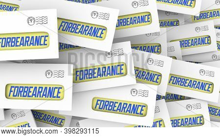 Forbearance Notice Letter Mortgage Loan Payment Pause Deferred 3d Illustration