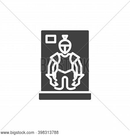 Museum Knight Armour Vector Icon. Filled Flat Sign For Mobile Concept And Web Design. Medieval Warri