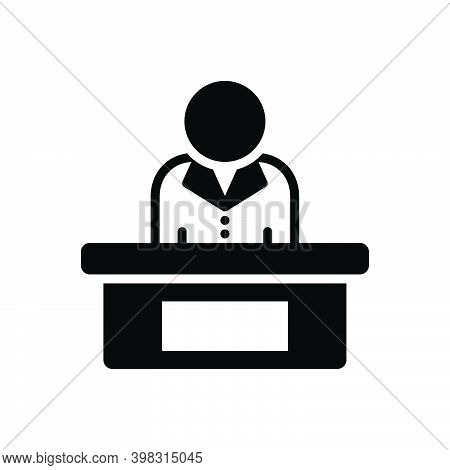 Black Solid Icon For Executive Controller Managerial Corporate Businessman Director Manager Warden A