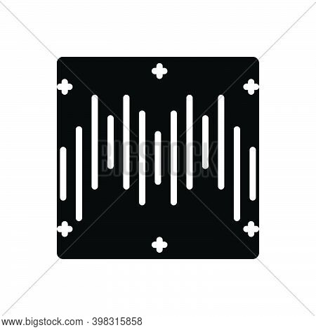 Black Solid Icon For Rhythm Cadence Timbre Melody Ragtime Musical Soundwave Frequency Song