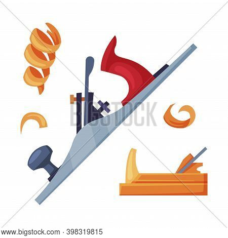 Fillet Molding Machine As Hand Tool In Carpentry Industry Vector Illustration