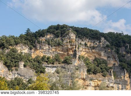 Dordogne; France - September 7; 2018: Belvedere Viewpoint In; The Jardins De Marqueyssac In The Dord