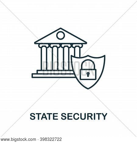State Security Icon. Line Style Element From Gdpr Collection. Thin State Security Icon For Templates