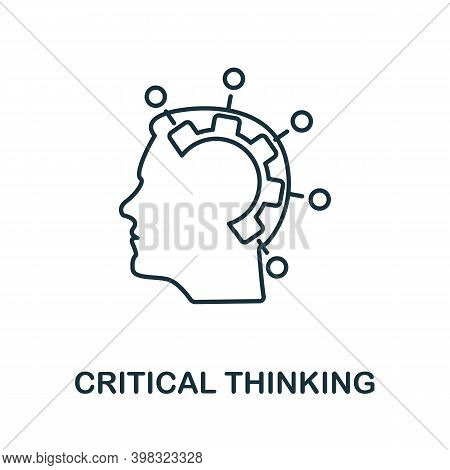 Critical Thinking Icon. Line Style Element From Life Skills Collection. Thin Critical Thinking Icon