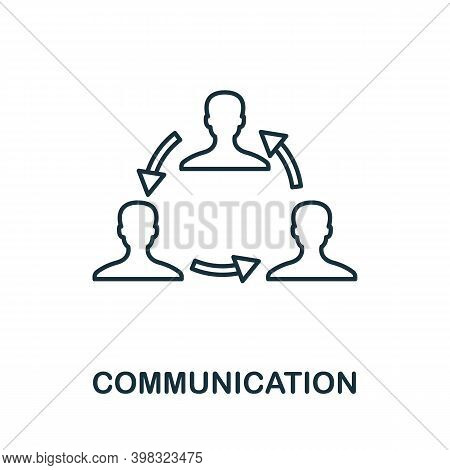 Communication Icon. Line Style Element From Life Skills Collection. Thin Communication Icon For Temp