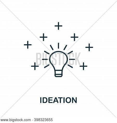 Ideation Icon. Line Style Element From Life Skills Collection. Thin Ideation Icon For Templates, Inf