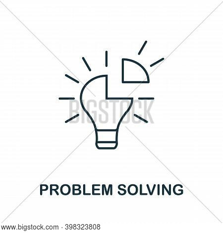 Problem Solving Icon. Line Style Element From Life Skills Collection. Thin Problem Solving Icon For