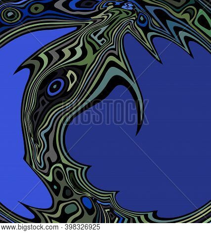 Colored Background Image Abstract Image Of Whale In The Water