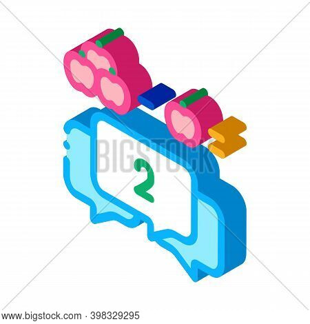 Preschool Education Mathematics Icon Vector. Isometric Preschool Education Mathematics Sign. Color I