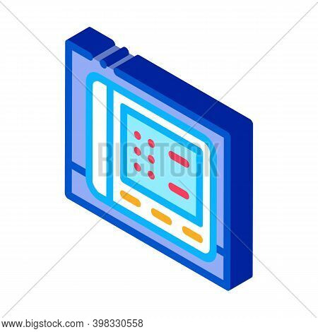 Cardio Electronic Device Icon Vector. Isometric Cardio Electronic Device Sign. Color Isolated Symbol