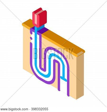 Drain Pipe Cleaning Equipment Icon Vector. Isometric Drain Pipe Cleaning Equipment Sign. Color Isola