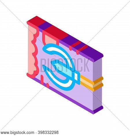 Drain Cleaning Tool In Pipe Icon Vector. Isometric Drain Cleaning Tool In Pipe Sign. Color Isolated