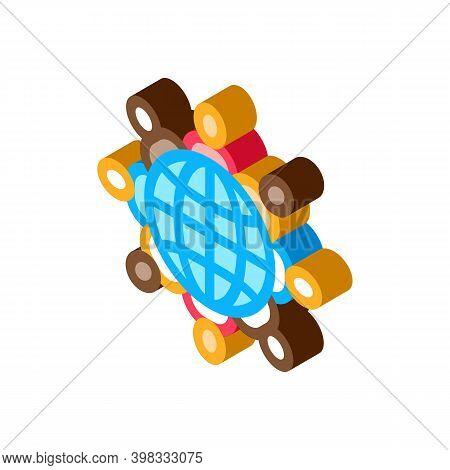 World Racial Tolerance Icon Vector. Isometric World Racial Tolerance Sign. Color Isolated Symbol Ill
