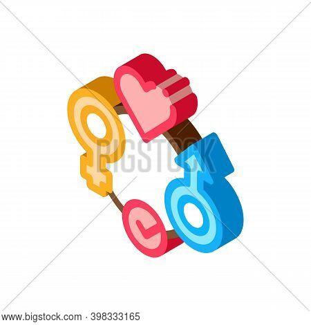 Gender Tolerance Icon Vector. Isometric Gender Tolerance Sign. Color Isolated Symbol Illustration