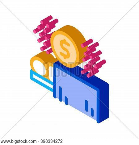 Payment Operation Icon Vector. Isometric Payment Operation Sign. Color Isolated Symbol Illustration