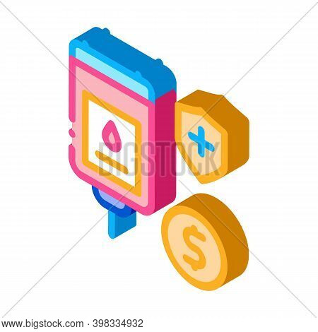 Blood Transfusion Icon Vector. Isometric Blood Transfusion Sign. Color Isolated Symbol Illustration