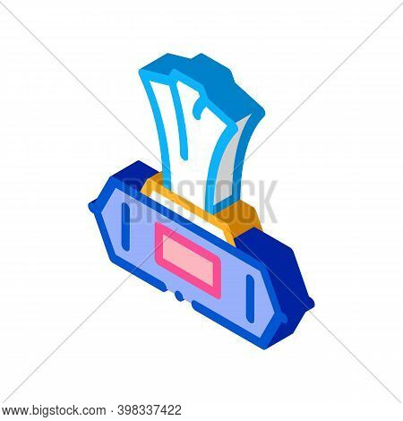 Wet Napkin Package Icon Vector. Isometric Wet Napkin Package Sign. Color Isolated Symbol Illustratio