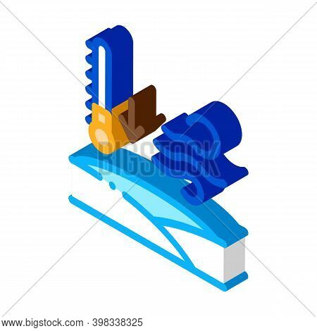 Low Arctic Temperature Icon Vector. Isometric Low Arctic Temperature Sign. Color Isolated Symbol Ill