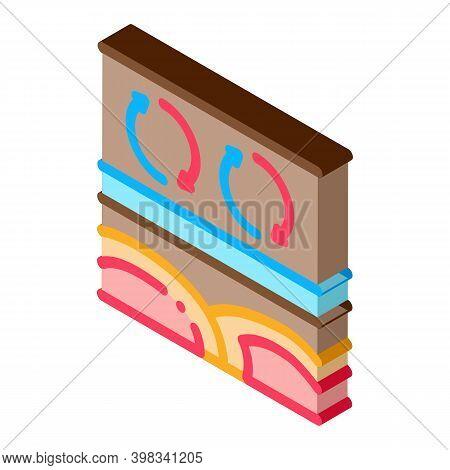 Natural Thermal Circulation Icon Vector. Isometric Natural Thermal Circulation Sign. Color Isolated