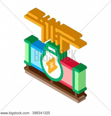 Geothermal Energy Pipe Icon Vector. Isometric Geothermal Energy Pipe Sign. Color Isolated Symbol Ill