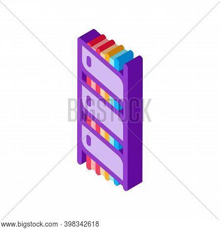 Optical Fiber Insulation Color Icon Vector. Isometric Optical Fiber Insulation Sign. Color Isolated