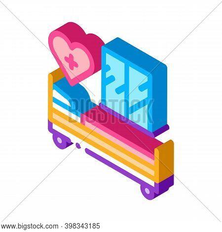 Prenatal Ward Maternity Hospital Color Icon Vector. Isometric Prenatal Ward Maternity Hospital Sign.