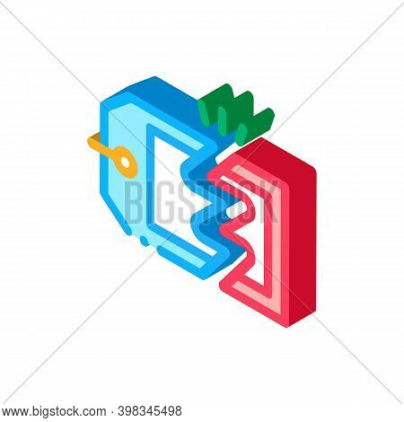 Discount Selling Price Color Icon Vector. Isometric Discount Selling Price Sign. Color Isolated Symb