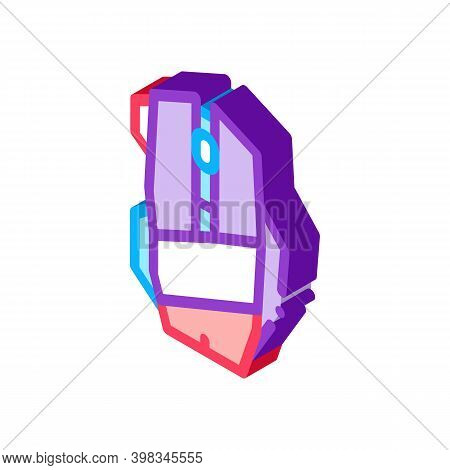 Mouse Computer Device Color Icon Vector. Isometric Mouse Computer Device Sign. Color Isolated Symbol