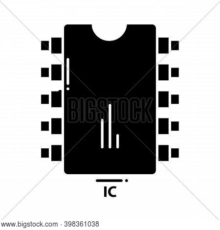 Ic Icon, Black Vector Sign With Editable Strokes, Concept Illustration