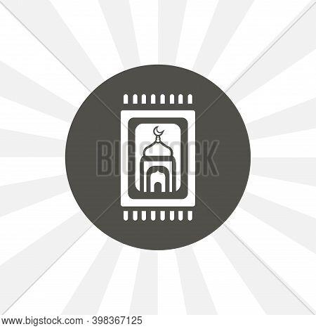 Carpet For Namaz Flat Illustration. Mat For Prayer. Arabic Carpet Isolated Vector Icon. Islam Design