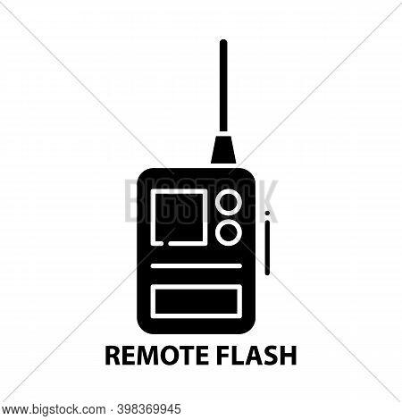 Remote Flash Icon, Black Vector Sign With Editable Strokes, Concept Illustration