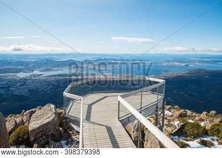 Scenic View On The Summit Of Mount Wellington In Hobart The Capital Cities In Tasmania State Of Aust