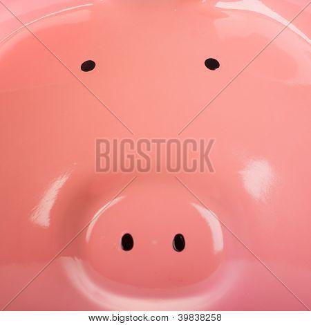 Close-up Of A Piggy Bank