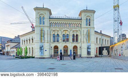 Oslo, Norway - October 30, 2016: Alfred Nobel Piece Center Building In Oslo, Norway.
