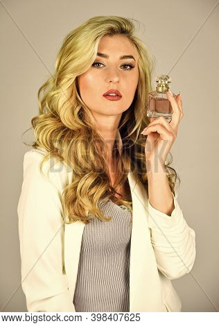 Scented Water Cologne In Spray Bottle. Female Fragrance And Perfumery, Cosmetics. Fashion And Beauty