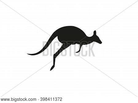 Kangaroo Vector Logo Design. Creative Kangaroo Nature Logo Design Concept, Running Kangaroo