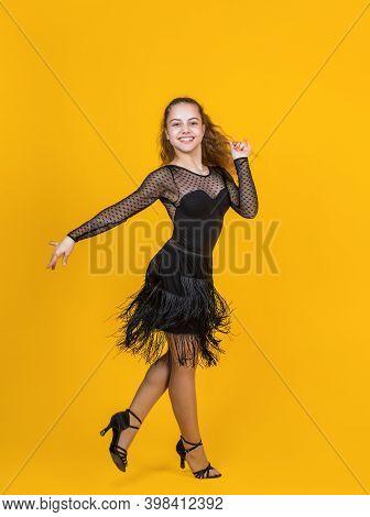 So Emotional. Dancewear Fashion Clothes. Dancing School. Teen Girl Ballroom Dancer. Kid Dancing In B