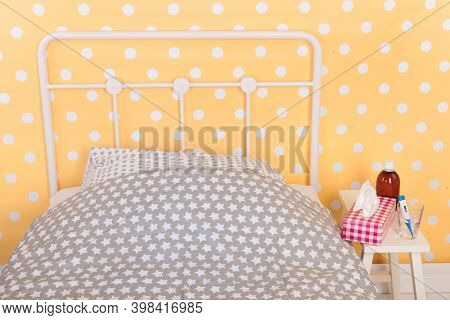 Bedroom from someone who is ill