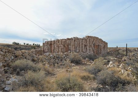 Ghost town ruins