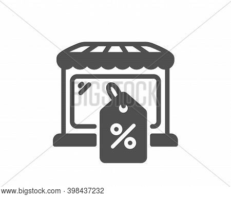 Market Sale Icon. Wholesale Store Sign. Marketplace Discounts Symbol. Quality Design Element. Flat S