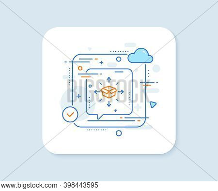 Parcel Delivery Line Icon. Abstract Vector Button. Logistics Service Sign. Tracking Symbol. Parcel D