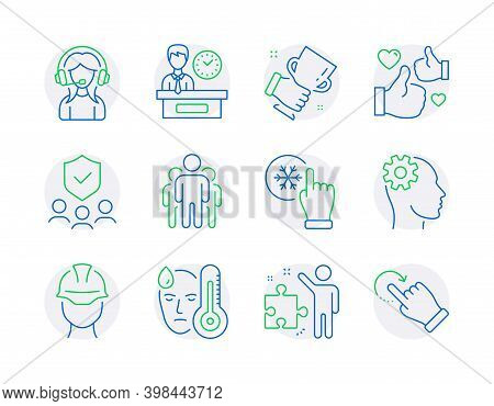 People Icons Set. Included Icon As Security Agency, Group, Freezing Click Signs. Engineering, Forema