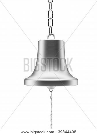Silver bell with chain