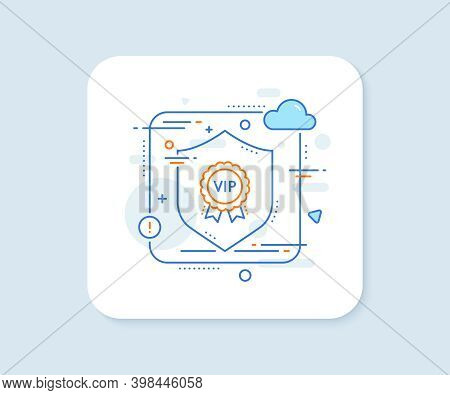 Vip Award Line Icon. Abstract Vector Button. Very Important Person Medal Sign. Member Club Privilege